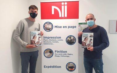 NII, imprimeur officiel du magazine Vivre à Caen